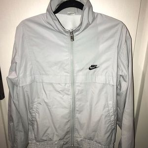 NIKE GRAY WINDBREAKER!